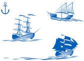 Sail ships — Stock Vector