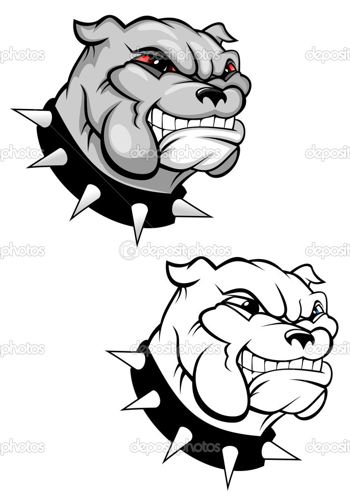 Bulldog mascot for design isolated on white — Stock Vector #3386169