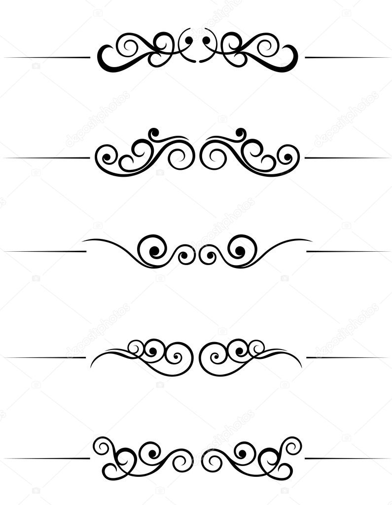 Swirl elements and monograms for design and decorate — Stock Vector #3386268