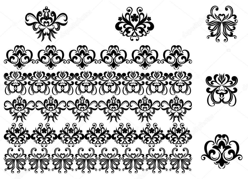 Flower Pattern Black And White Border Flower Patterns And Borders