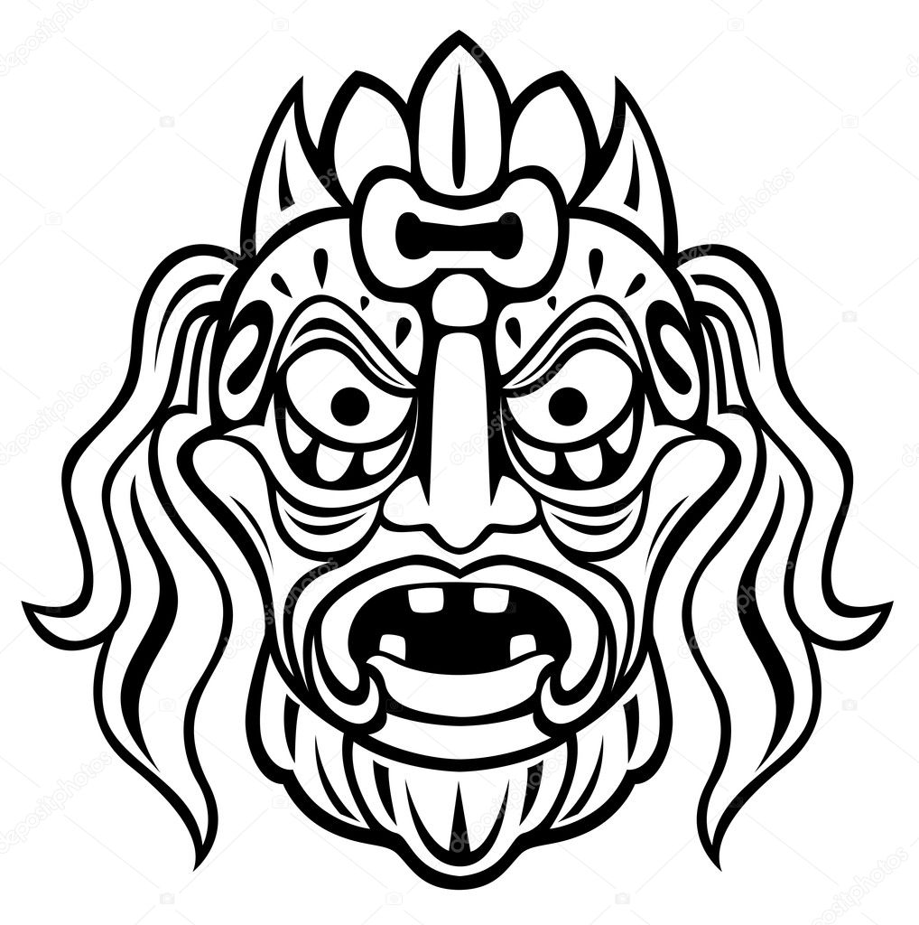 Mayan mask coloring pages coloring pages for Aztec mask template