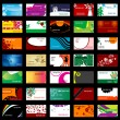 Royalty-Free Stock Imagen vectorial: Various business cards