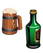 German beer — Stock Vector