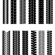 Tire shapes — Stock Vector