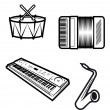 Music instruments — Stock Vector