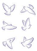 White doves — Stock Vector