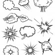 Explosions set — Stock Vector