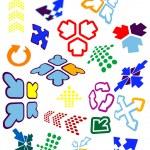 Arrow icons and symbols — Stock Vector