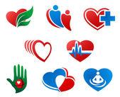 Heart symbols — Stock Vector