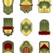 Set of vintage golden labels — Stock Vector