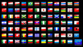 Nationale vlaggen pictogrammen — Stockvector
