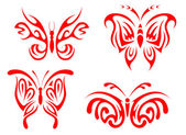 Butterfly tattoo — Stockvector