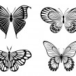 Stock Vector: Butterfly tattoos