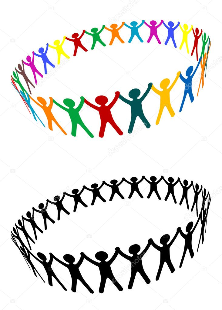 Round of peoples as a friendship symbol  Image vectorielle #3665862