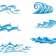 Set of wave symbols — Stock Vector
