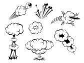 Serie de explosiones — Vector de stock