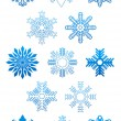 Set of snowflakes — Image vectorielle