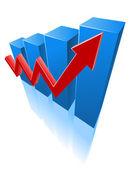 Color graph — Stock Vector