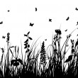 Royalty-Free Stock Vectorafbeeldingen: Grass silhouette