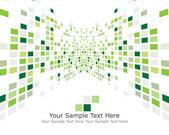 Zelená zaškrtnutých pozadí — Stock vektor