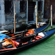 Gondola at the canal in Venice. Italy. — Stock Photo