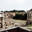 Stock Photo: The ruins of the Roman forum. Italy