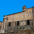 The ruins of the Roman forum. Italy - Stock Photo