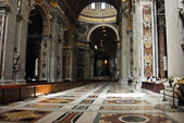 Catedral de s.peters nave central — Foto de Stock
