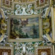 Stock Photo: Rich ceiling ornament in a museum of Vatican