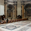 St. Peter's Cathedral interior in Vatican — Stock Photo