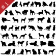 Royalty-Free Stock Vector Image: Pets silhouettes # 2