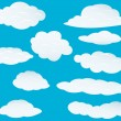 Set of clouds - Stock Vector