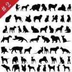 Pets silhouettes # 2 — Vector de stock