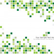 Green checked background - Stock Vector