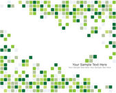 Green checked background — Stock Vector