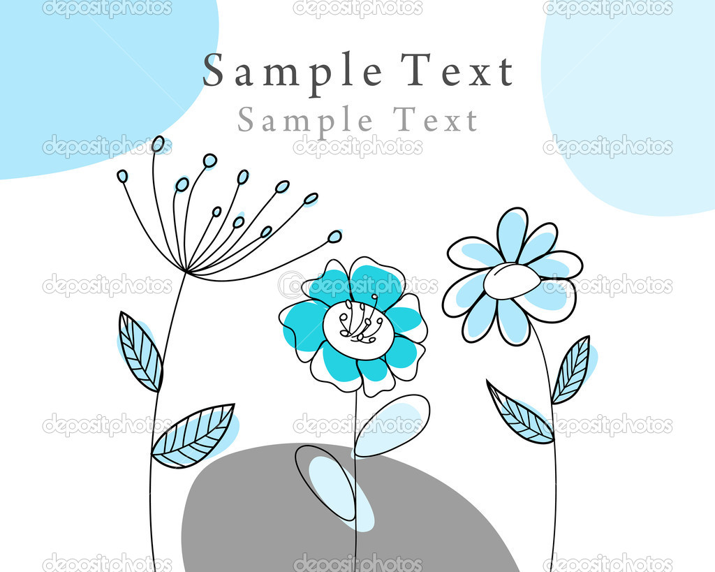 Hand drawn infant card for design use  Stock Vector #3404017