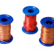 Copper wire reels — Stock Photo