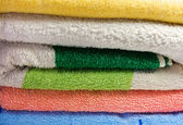 Towels stack — Stock Photo