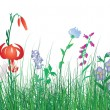 Royalty-Free Stock Imagen vectorial: Colorful grass background