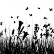 Royalty-Free Stock Vectorafbeeldingen: Grass silhouettes