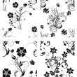 Set of flowers backgrounds - Stock Vector