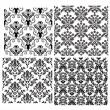 Royalty-Free Stock Vector Image: Seamless damask backgrounds set