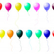 Colourful balloons set with glare — Stock Vector
