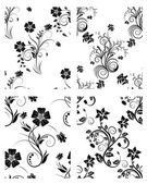 Set of flowers backgrounds — Stockvector