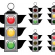Royalty-Free Stock Vector Image: Traffic lights set