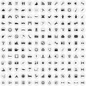 170 pictogrammen instellen — Stockvector