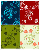 Set of color flowers backgrounds — Stockvector