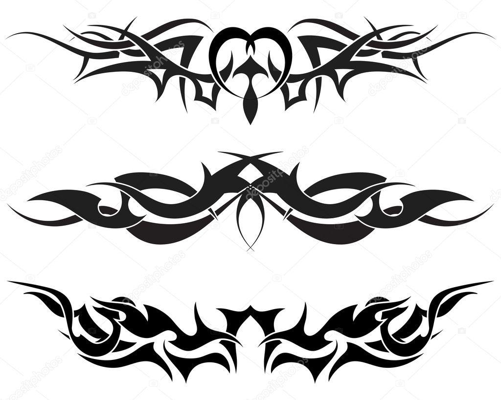 Patterns of tribal tattoo for design use — Stock Vector #3441231