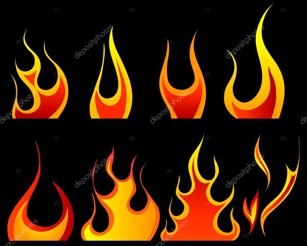 Языки пламени своими руками