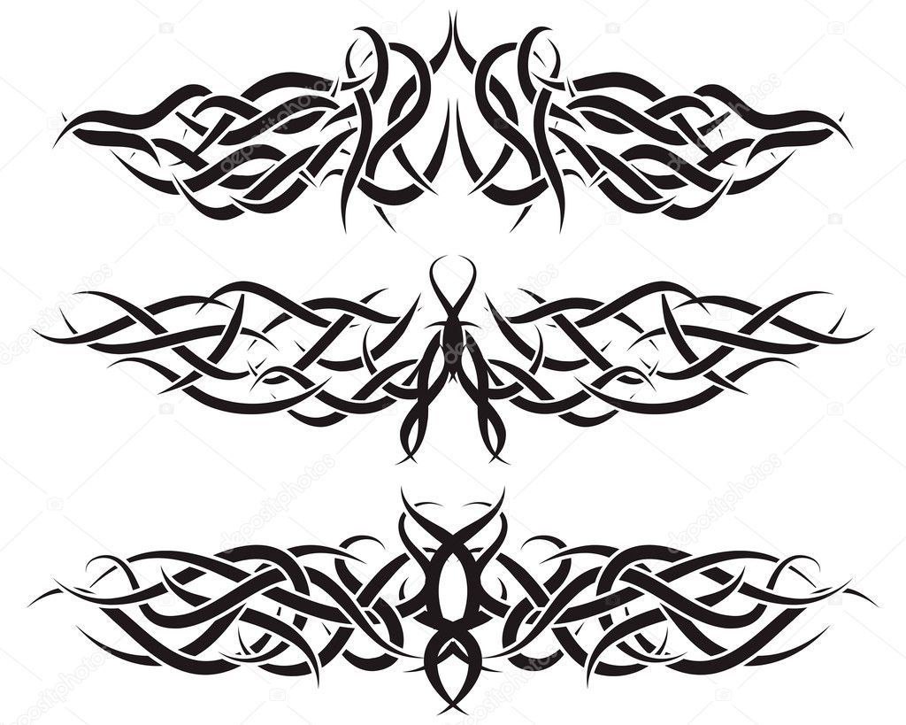 Patterns of tribal tattoo for design use — Stock Vector #3446301